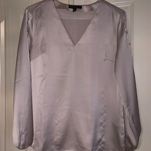 Gold shimmery blouse with accent sleeves